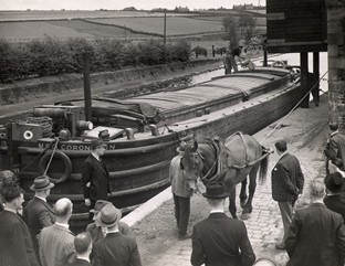 Coronation barge at Preston Brook