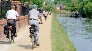 Cycling on the canalside
